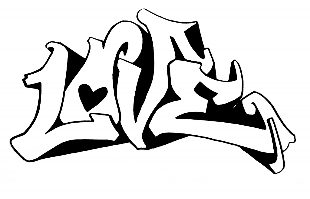 love pictures to color graffiti coloring pages for teens and adults best color pictures love to