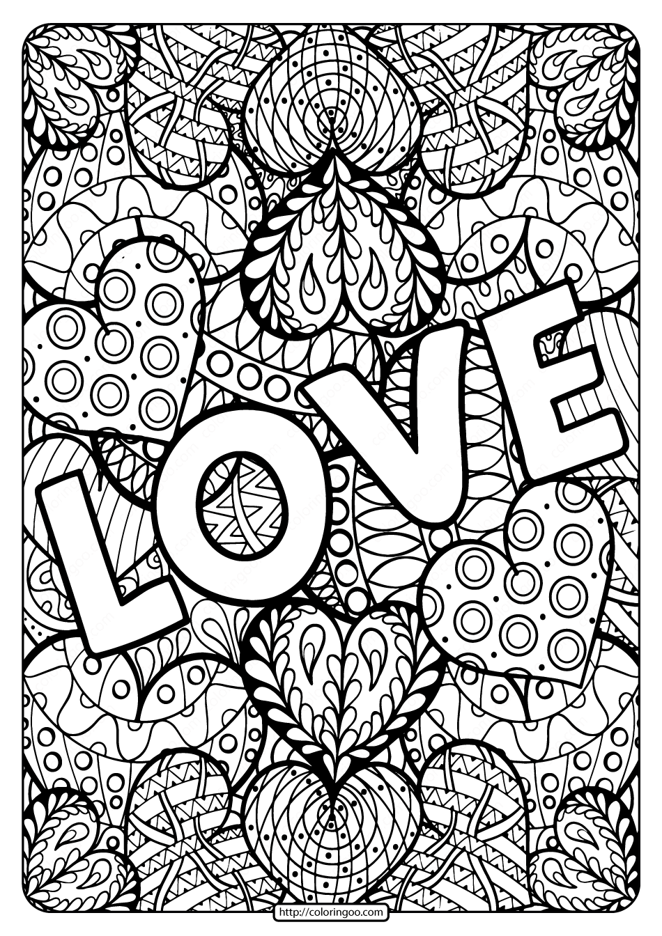 Love pictures to color