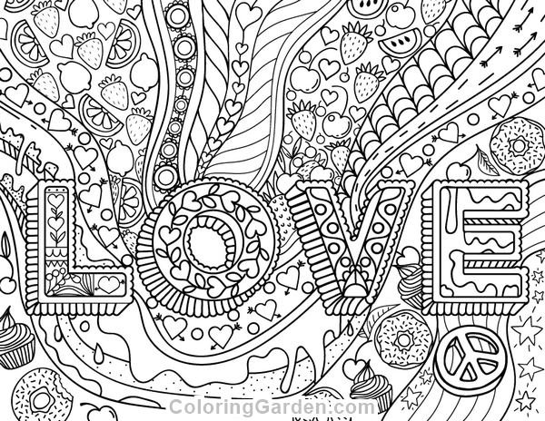 love pictures to color love adult coloring page pictures love color to