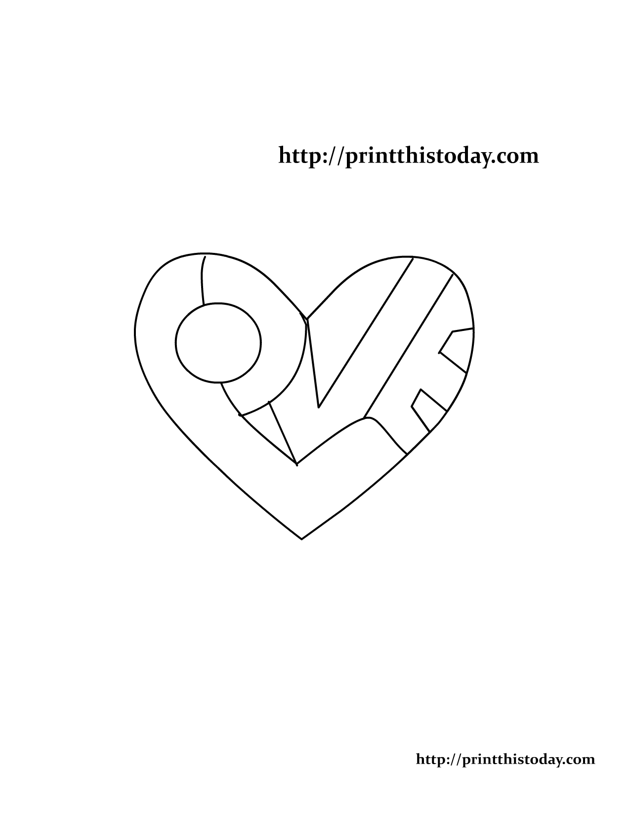 love pictures to color valentines day coloring pages quot love heart quot symbol to color pictures love