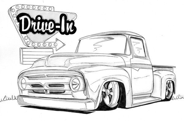 lowrider truck coloring pages lowrider truck drawing at getdrawings free download lowrider coloring truck pages