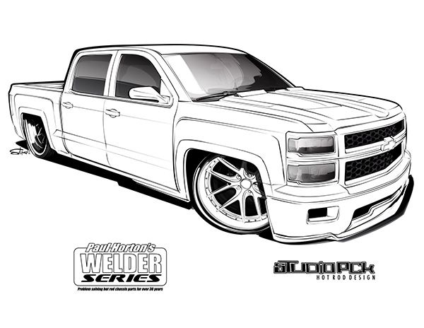 lowrider truck coloring pages the best free silverado drawing images download from 88 lowrider truck pages coloring