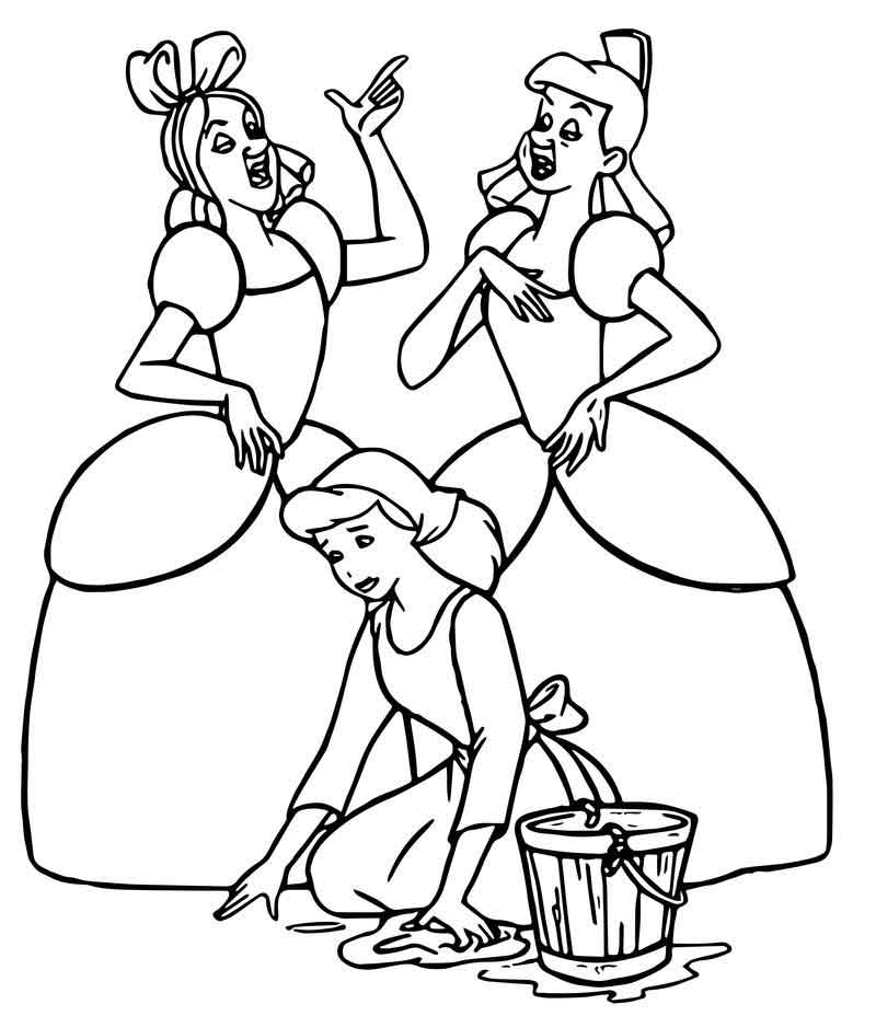 lucifer cinderella coloring page cinderella lady tremaine anastasia drizella and lucifer coloring cinderella page lucifer