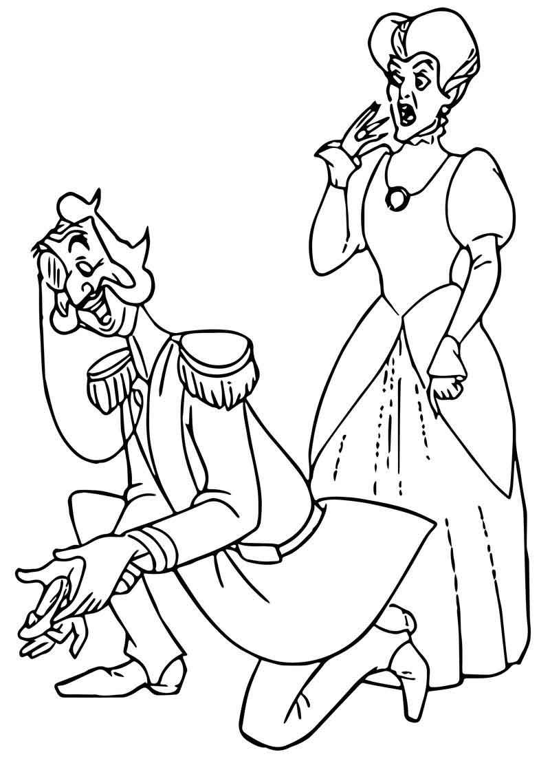lucifer cinderella coloring page cinderella lady tremaine anastasia drizella and lucifer lucifer cinderella page coloring