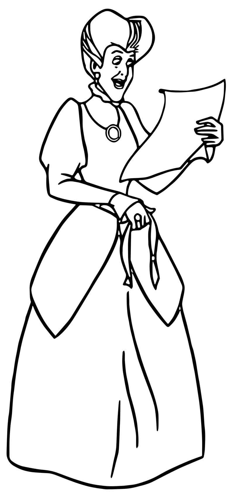 lucifer cinderella coloring page cinderella lady tremaine anastasia drizella and lucifer lucifer page cinderella coloring