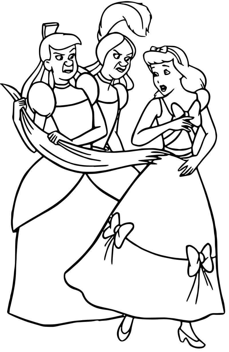 lucifer cinderella coloring page cinderella lady tremaine anastasia drizella and lucifer page cinderella coloring lucifer