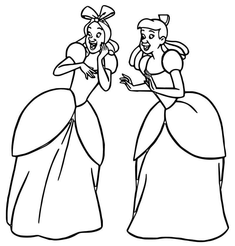 lucifer cinderella coloring page cinderella lady tremaine anastasia drizella and lucifer page cinderella coloring lucifer 1 1