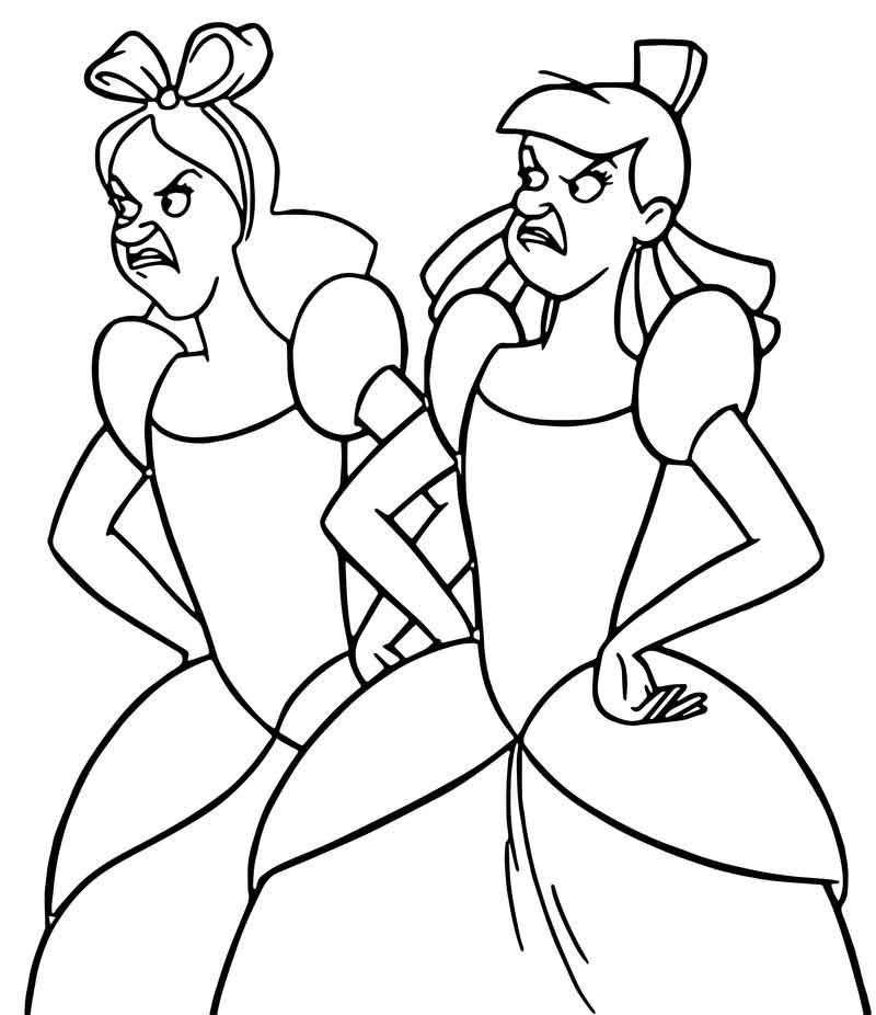 lucifer cinderella coloring page cinderella lady tremaine anastasia drizella and lucifer page coloring cinderella lucifer