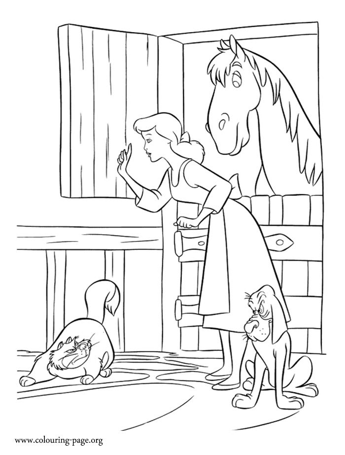 lucifer cinderella coloring page in this beautiful picture cinderella protects her friends coloring cinderella lucifer page