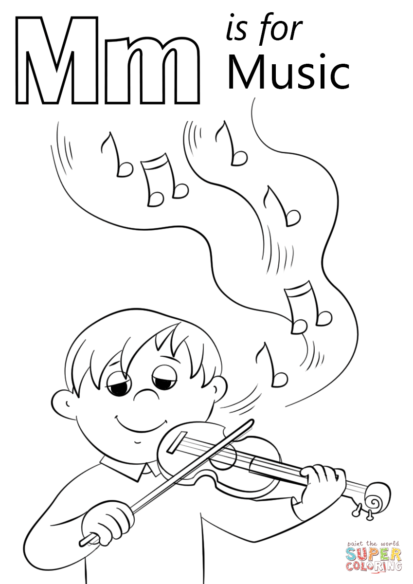 m coloring pages for preschool letter m is for music coloring page free printable preschool pages m for coloring