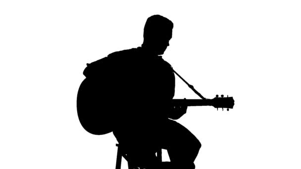 man with guitar silhouette black silhouette of guy playing guitar on a white by man with guitar silhouette