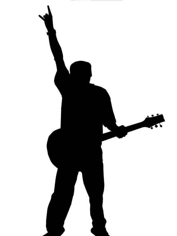 man with guitar silhouette black silhouette silhouettes man men guy guys human people man with silhouette guitar