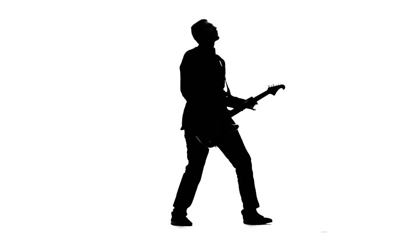 man with guitar silhouette guitar man silhouettes pinterest man silhouette guitar with