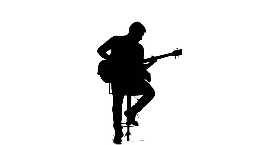 man with guitar silhouette guitar player silhouette stock footage video shutterstock with man silhouette guitar