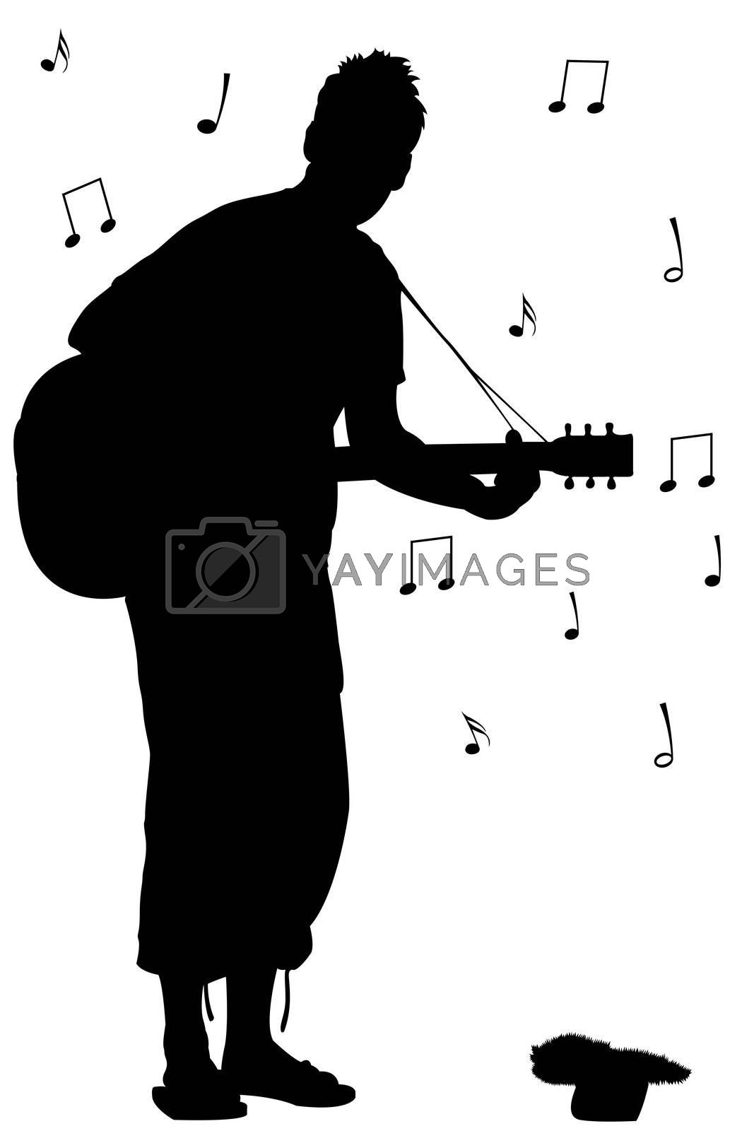 man with guitar silhouette guitar silhouette images stock photos vectors silhouette with guitar man