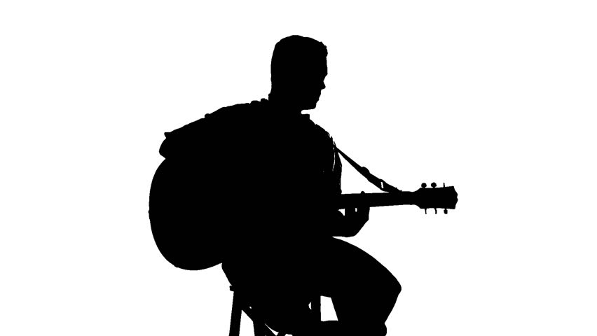 man with guitar silhouette guitarist silhouette at getdrawings free download silhouette man guitar with