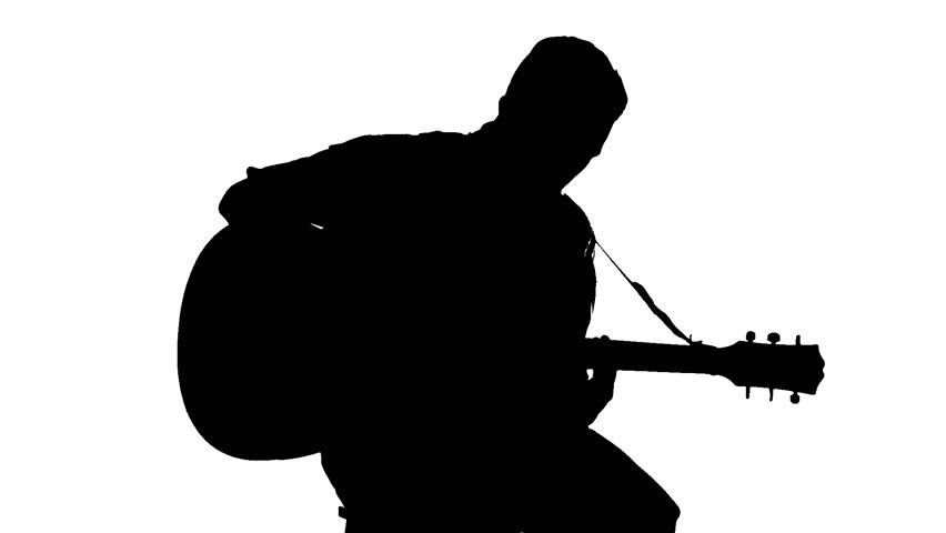 man with guitar silhouette man with guitar silhouette guitar silhouette man with