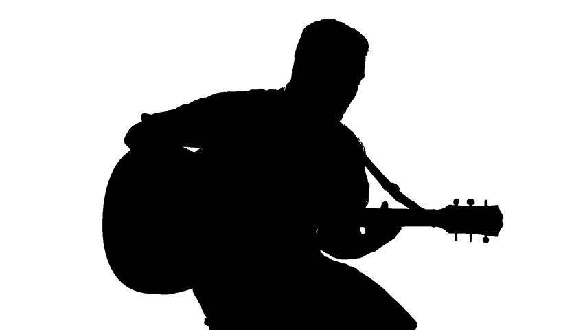 man with guitar silhouette silhouette of a young man playing the guitar and dancing guitar silhouette with man