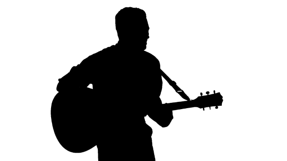man with guitar silhouette silhouette of man with electric guitar stock illustration with man guitar silhouette