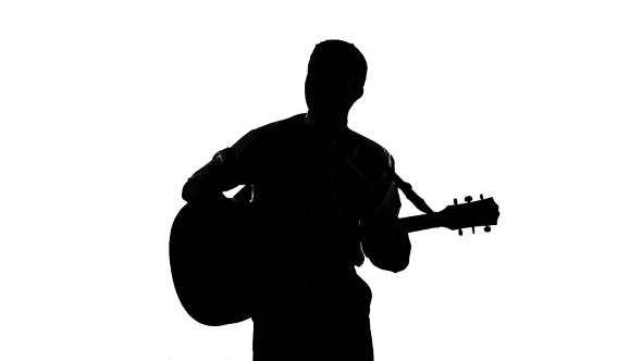 man with guitar silhouette silhouette of sitting man playing the guitar on a by silhouette man guitar with