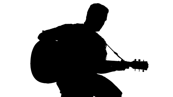 man with guitar silhouette silhouette of sitting man playing the guitar on a white with man silhouette guitar