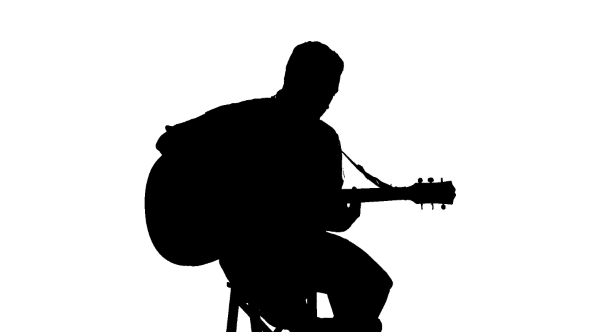 man with guitar silhouette silhouette of sitting man playing the guitar on white silhouette with man guitar