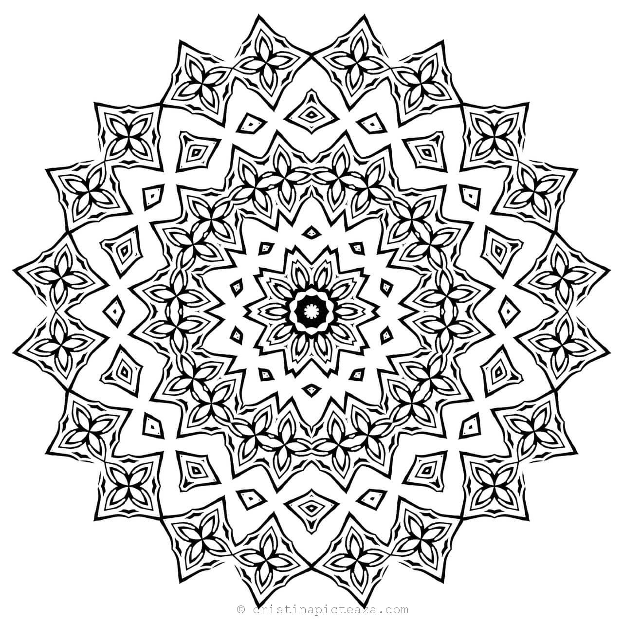 mandala adult coloring pages download the full size mandala on the right to print and mandala adult coloring pages