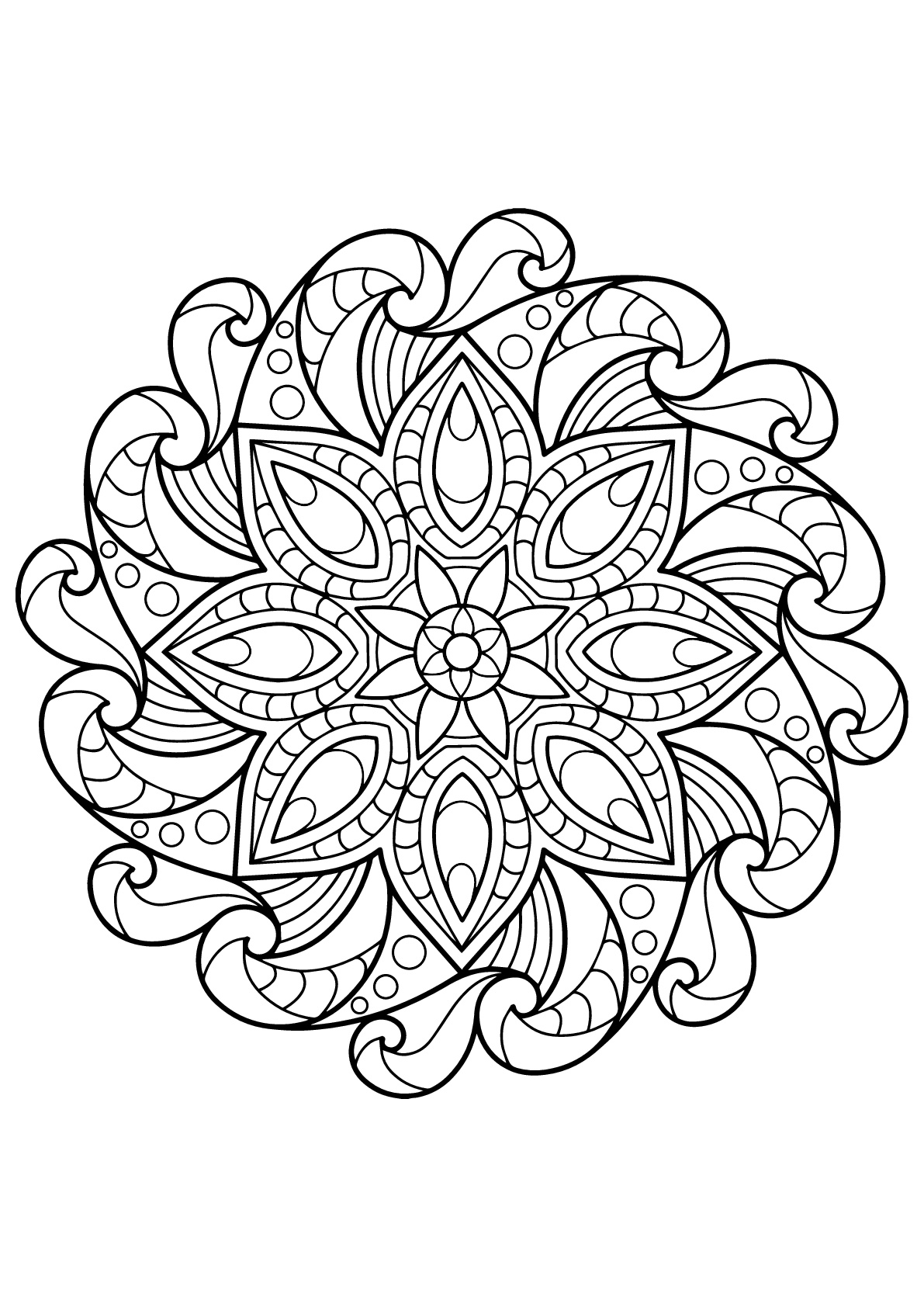 mandala adult coloring pages free clipart of a black and white adult coloring page adult pages mandala coloring