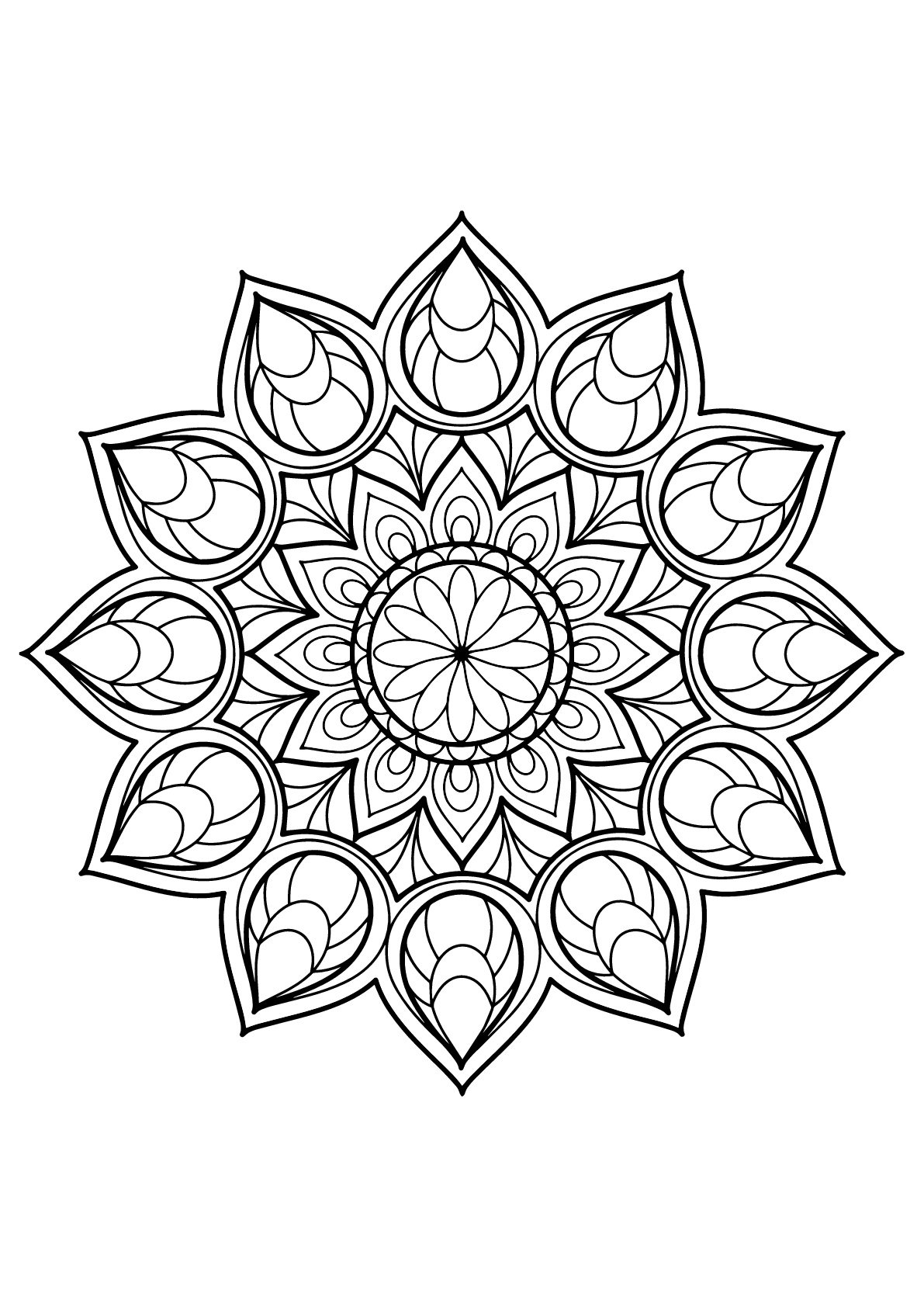 Mandala coloring pages for adults free