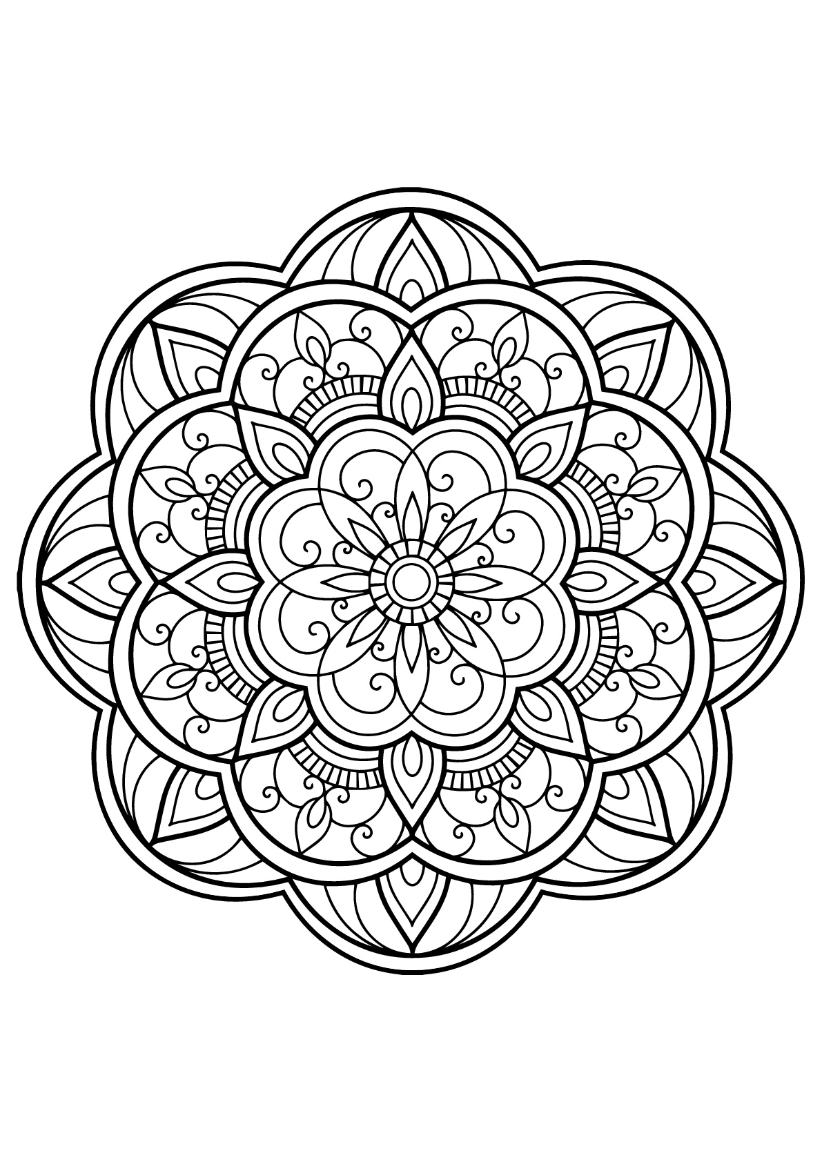 mandala coloring pages for adults free free clipart of a black and white adult coloring page pages free for coloring adults mandala