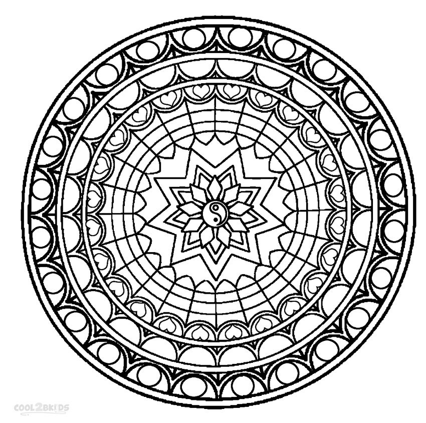mandala coloring pages for adults printable mandala coloring pages for kids cool2bkids coloring pages mandala for adults