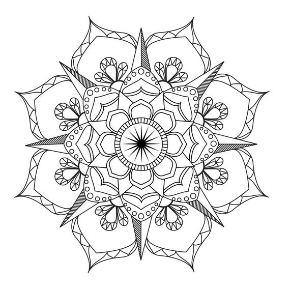 mandalas to color for adults flower mandala coloring page adult coloring art therapy pdf for mandalas color to adults