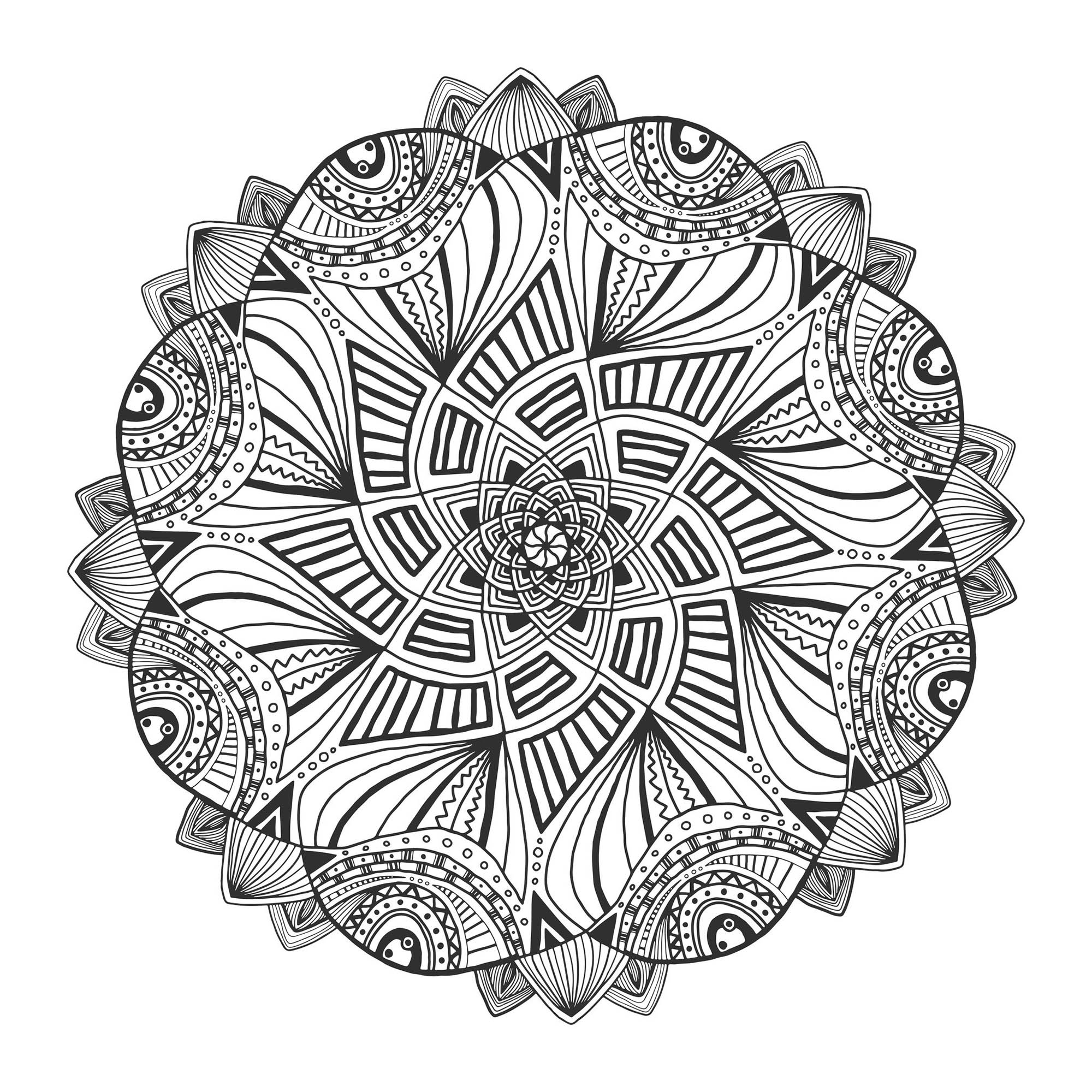 mandalas to color for adults mandala with geometric patterns and wolf head full of for mandalas color to adults