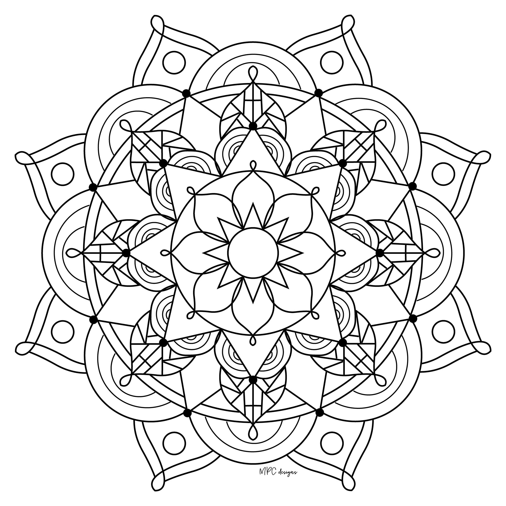 mandalas to color for adults opal palace mandala coloring page favecraftscom adults to mandalas color for