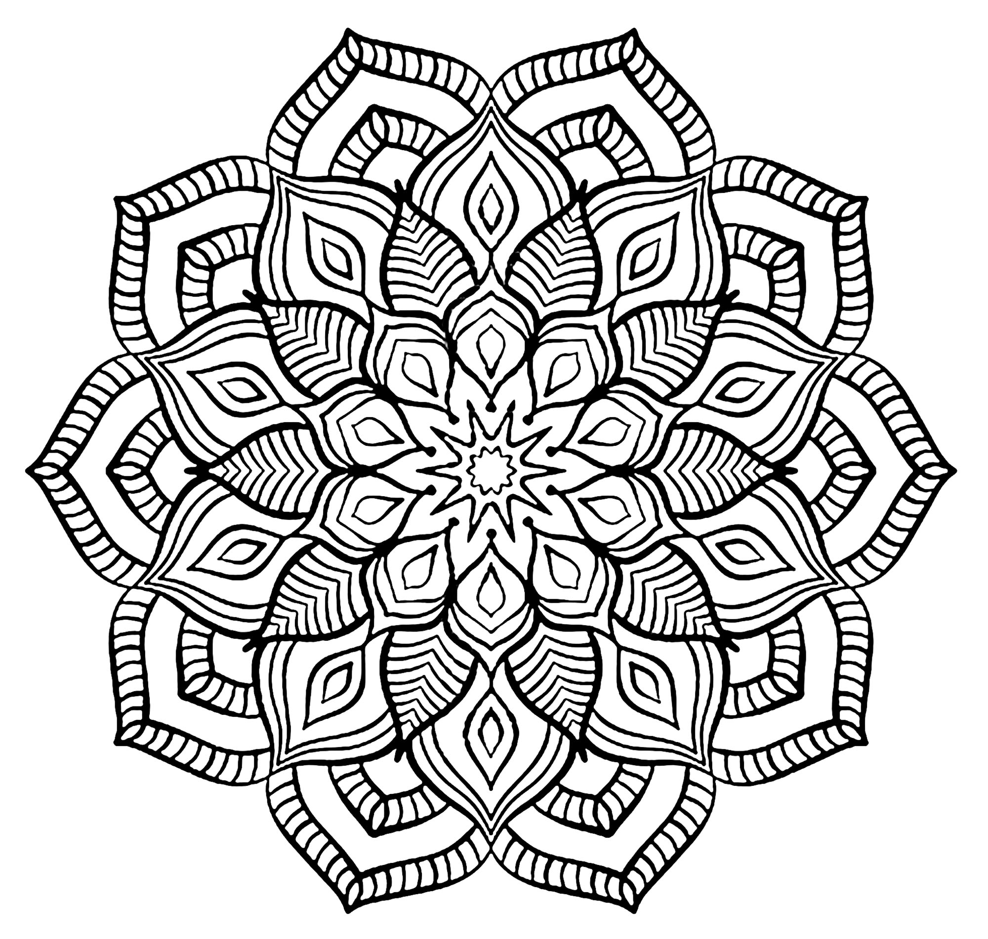 mandalas to color for adults quotthe big flowerquot mandala difficult mandalas for adults for mandalas adults color to