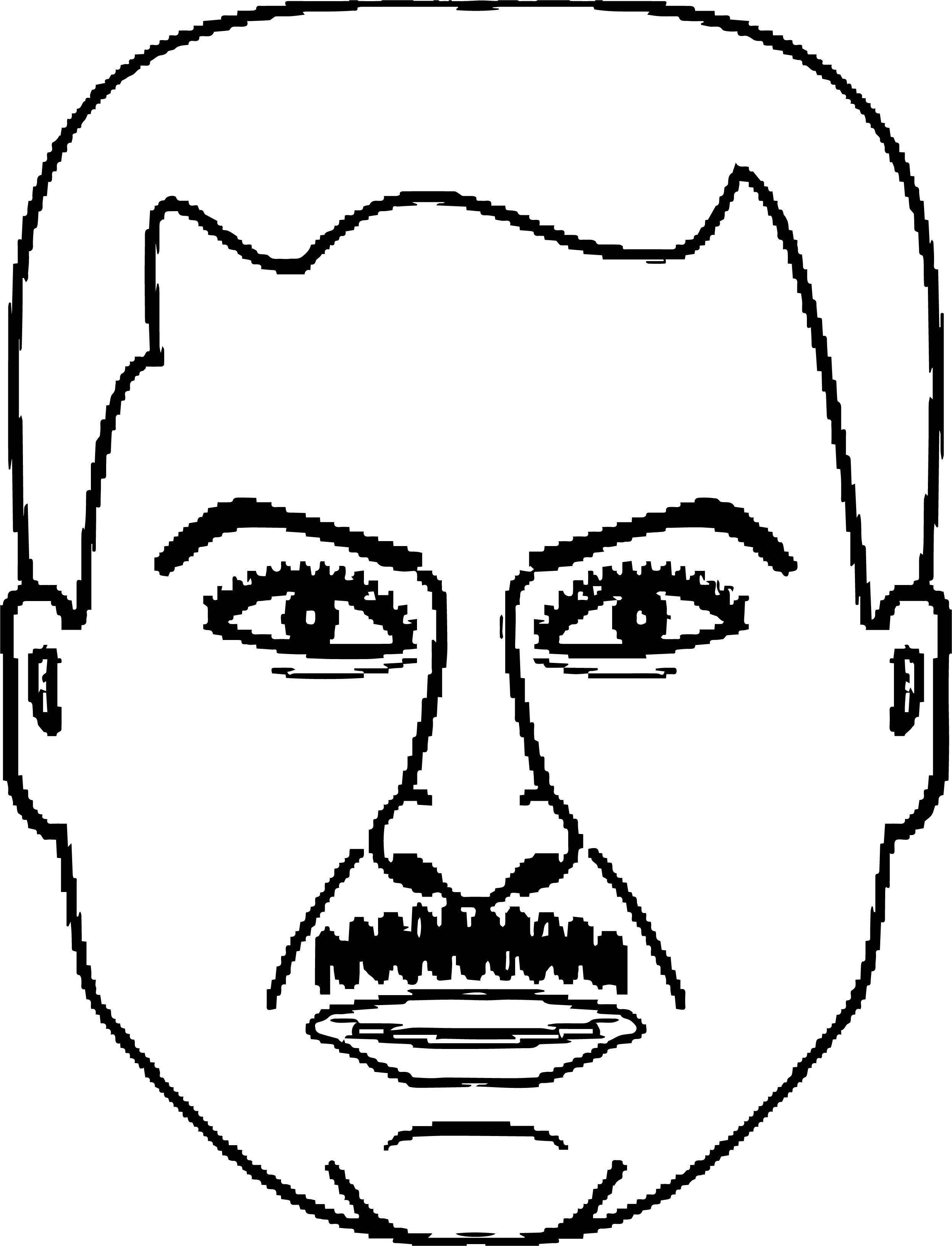 mans face coloring page coloring pages of men at getcoloringscom free printable face coloring page mans