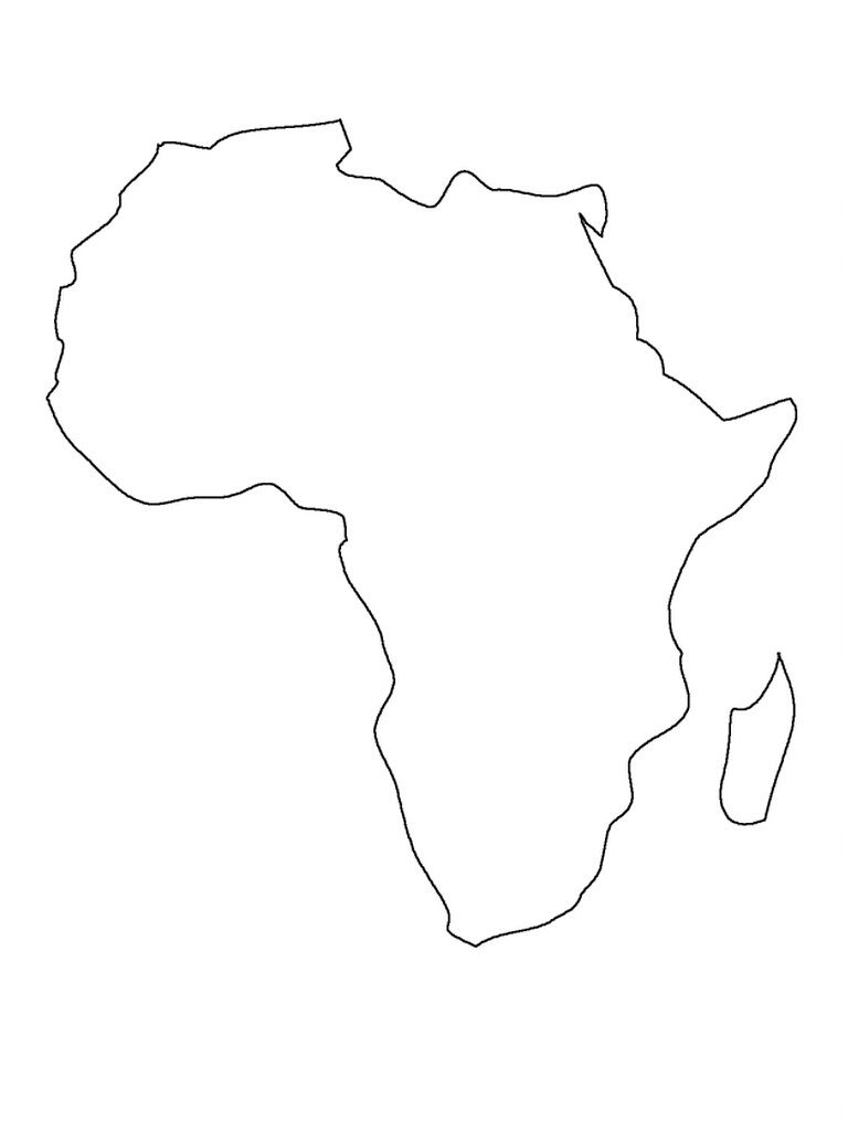 map of africa printable black and white africa coloring page color african continent online africa printable of map and black white