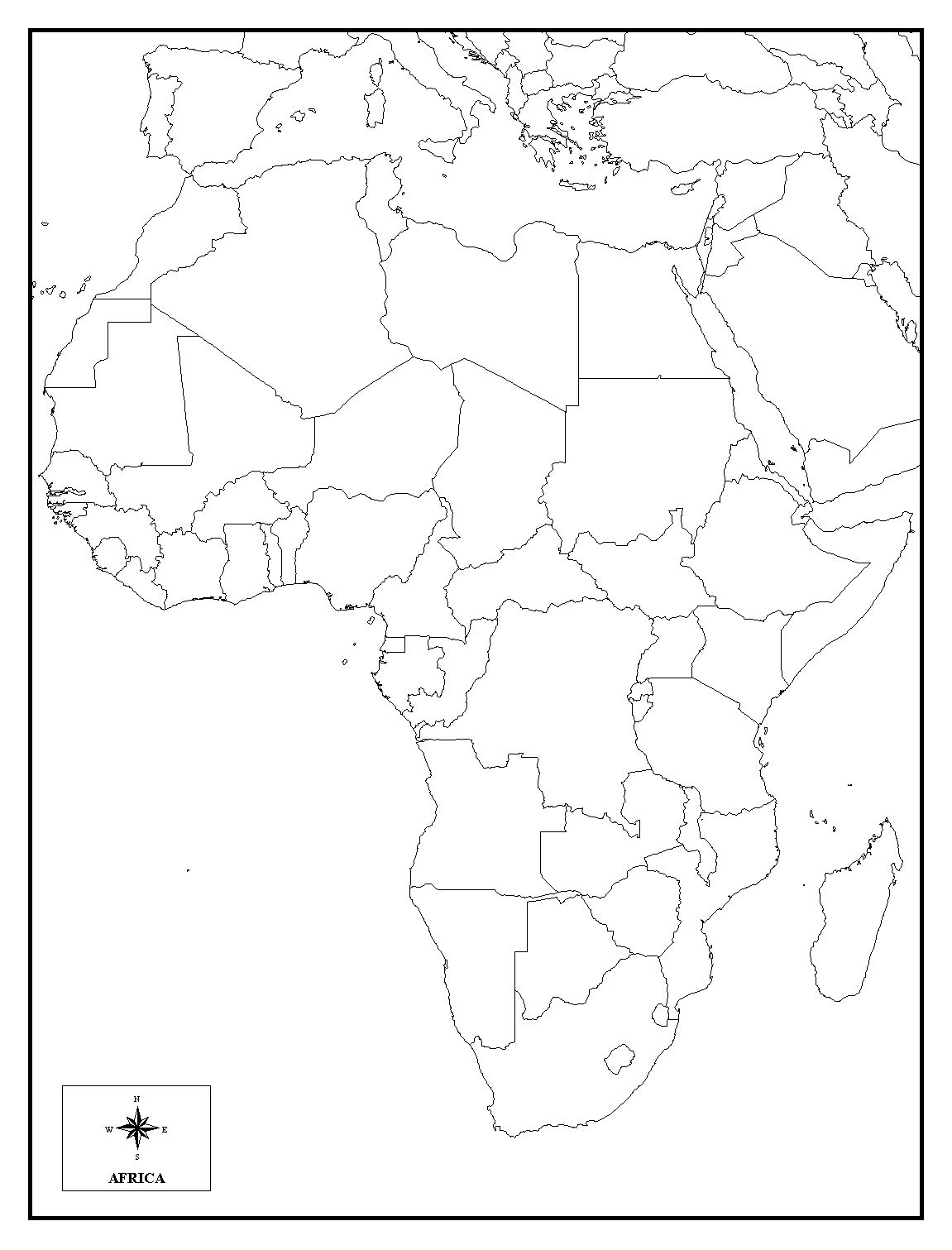 map of africa printable black and white detailed map of africa continent in black silhouette africa white and black map printable of