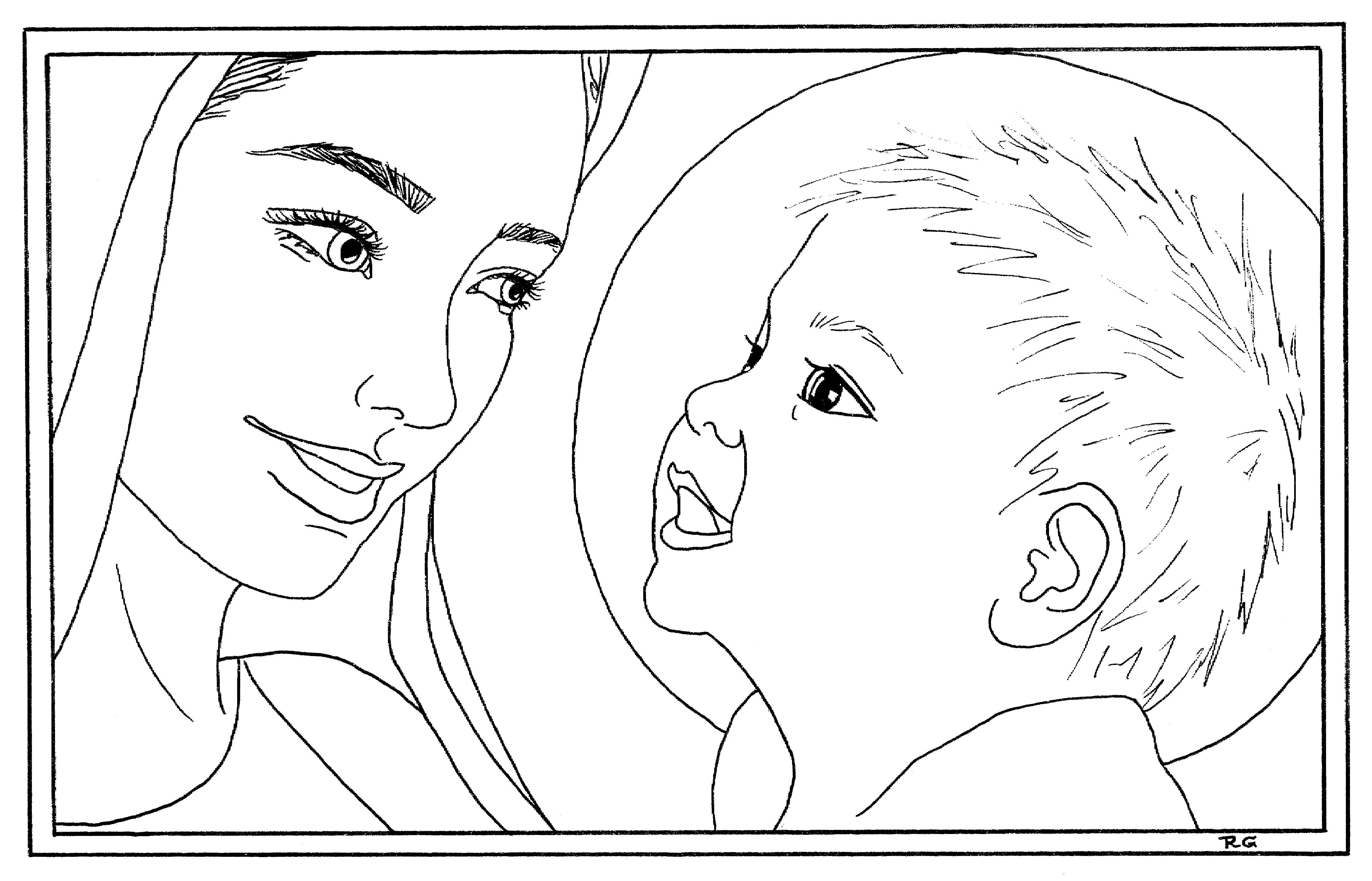 mary magdalene coloring page 7 best mary visited elizabeth bible activities images coloring magdalene mary page