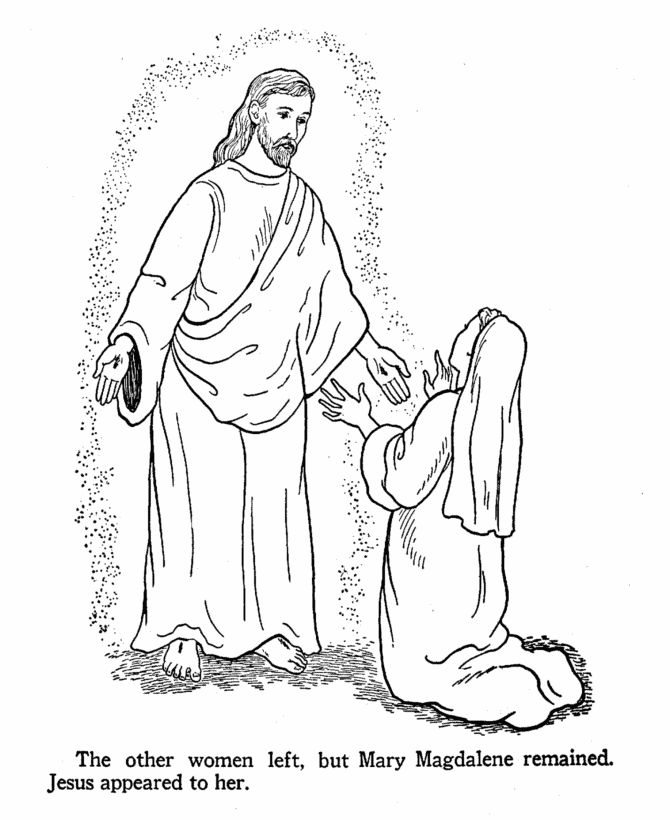 mary magdalene coloring page easter bible coloring page jesus appears to mary mary page magdalene coloring