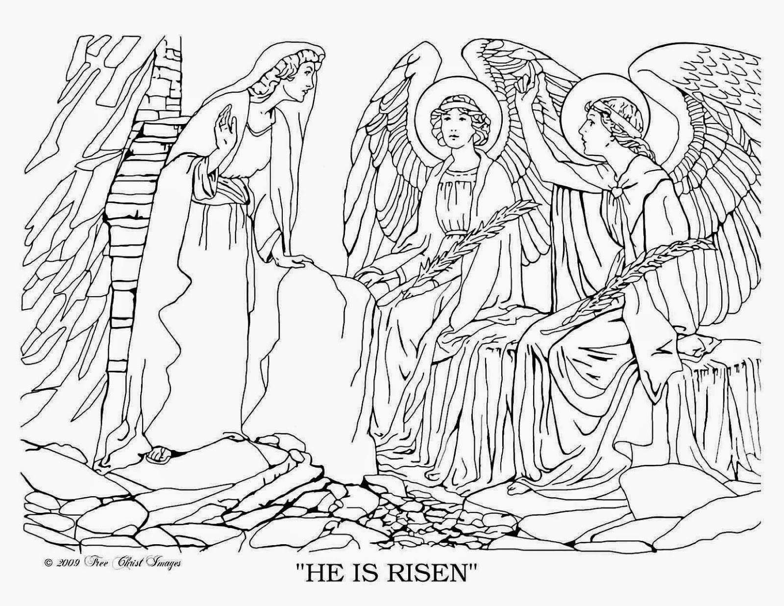 mary magdalene coloring page print and color in the scene from quothe is risen an easter magdalene mary page coloring