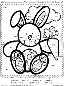 math equation coloring sheets easter 39egg39cellent equations math printables color by the code puzzles fun math math sheets math coloring equation