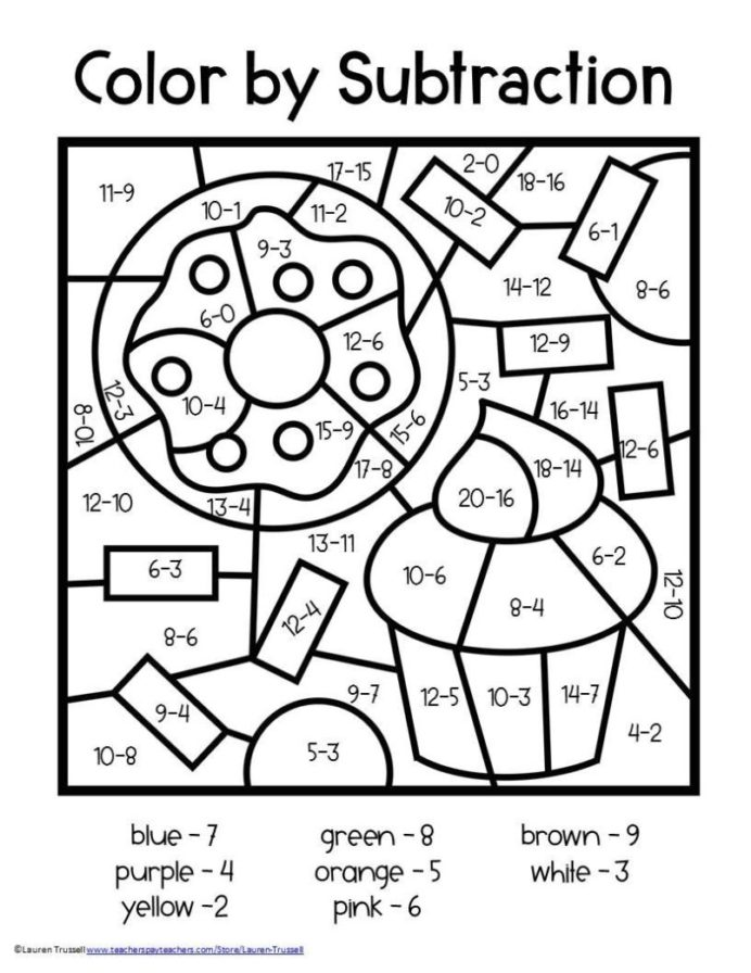 math number coloring pages 2nd grade math worksheets color by number free worksheet math pages coloring number