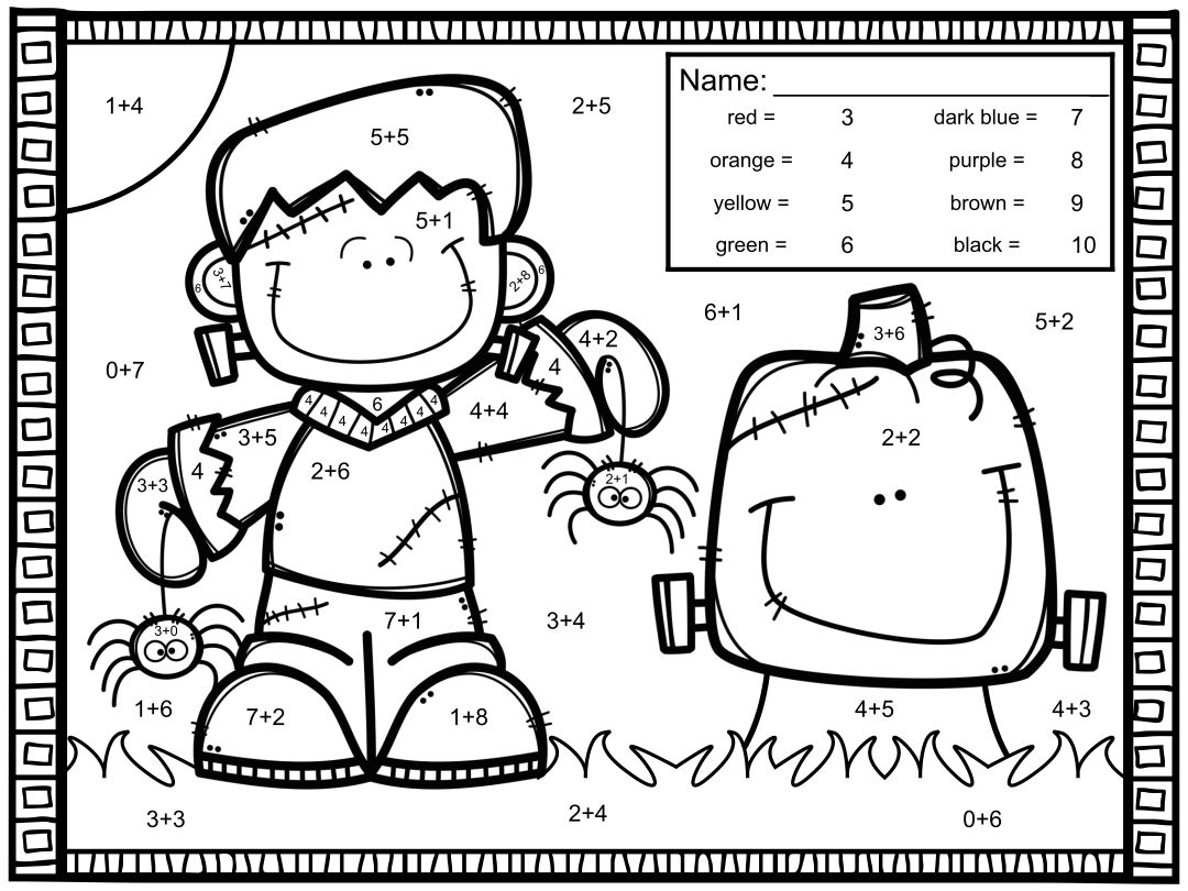 math number coloring pages 8 best images of halloween color by number printables math pages number coloring