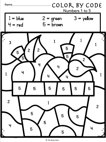 math number coloring pages color by code fall worksheets kindergarten math math pages number coloring