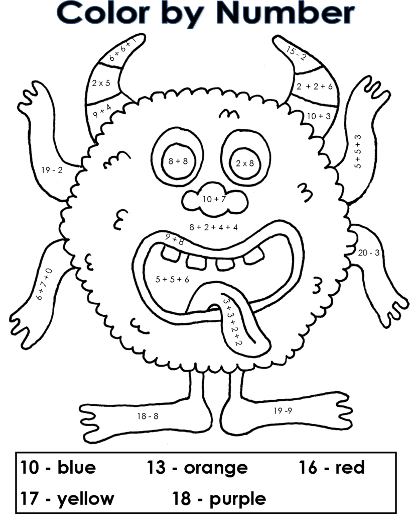 math number coloring pages free printable color by number coloring pages best coloring number pages math