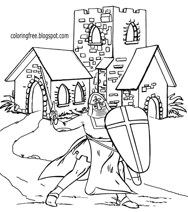 medieval colouring sheets medieval coloring pages getcoloringpagescom colouring sheets medieval