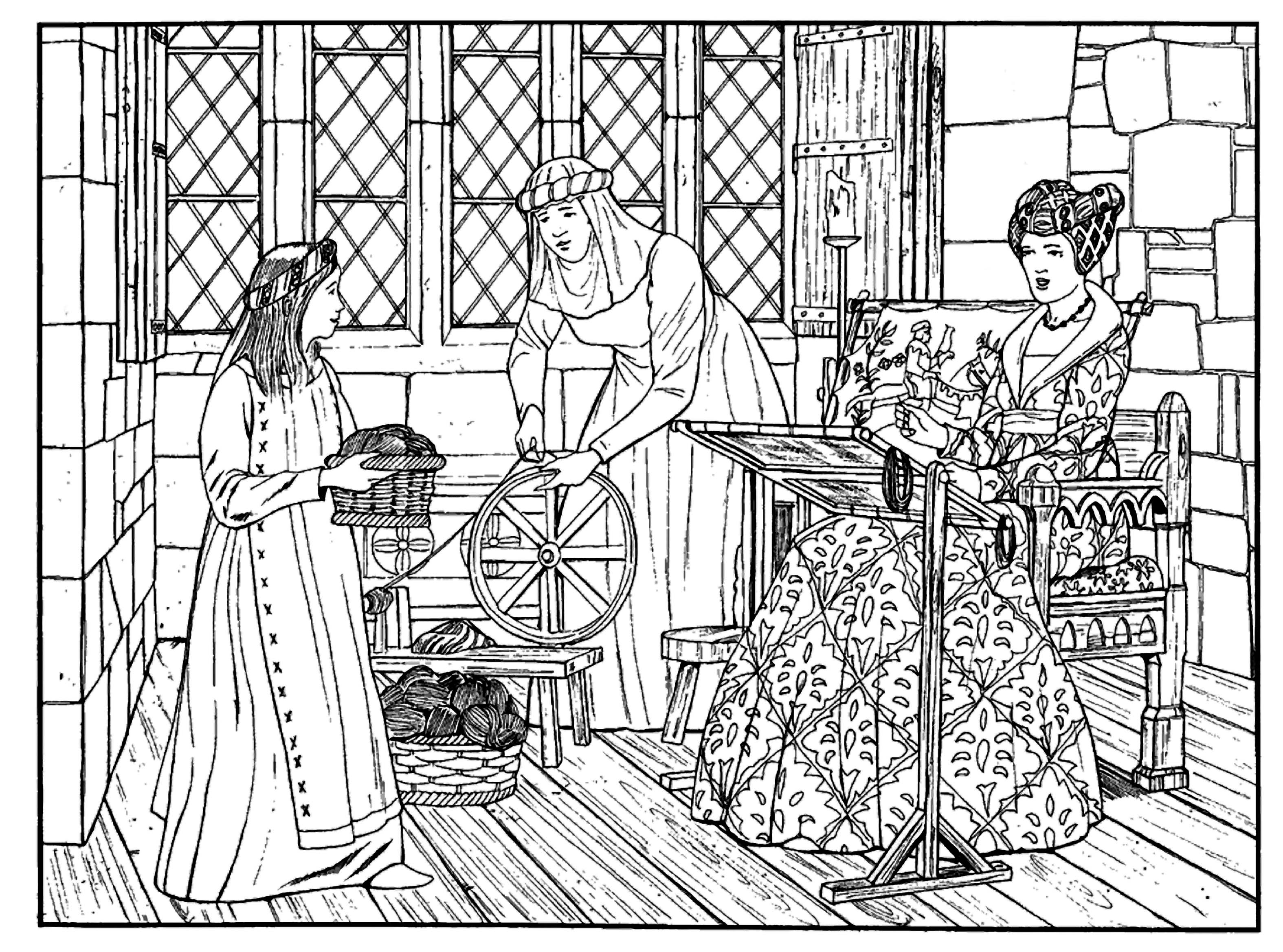 Medieval colouring sheets