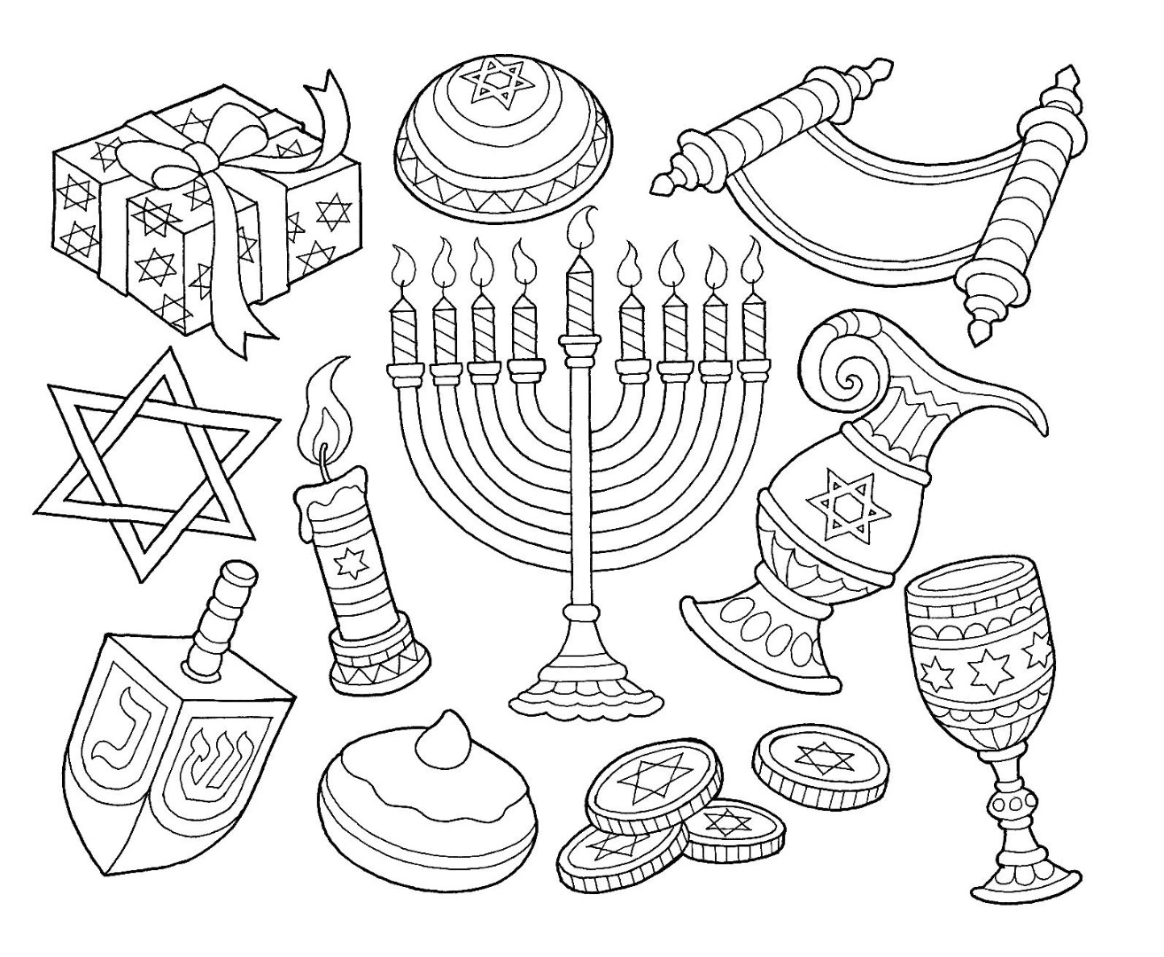 menorah coloring page 8 of the best most artful hanukkah coloring pages page menorah coloring