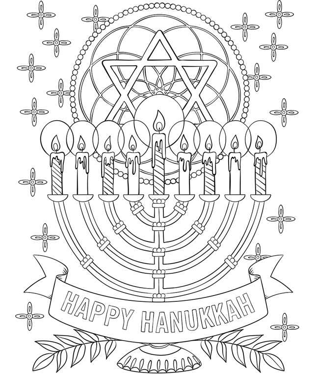 menorah coloring page download free hanukkah color pages printable for pre page coloring menorah
